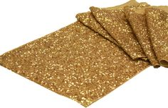 Gold Glitz Table Runners (12x108)- 10 in stock- Beautiful décor idea!  Use them also for your guestbook, cake table to add the gold touch!