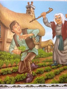 Rapunzel's Father gets caught for stealing lettuce