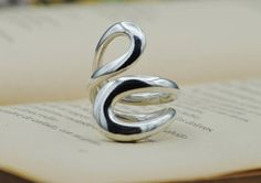 Infinity Ring, Best Gift, Open Silver Ring, Big Ring, Infinity Jewelry, Eternity Ring, Handmade Jewellery