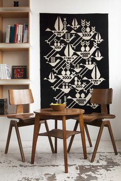 Patterned Node Rug design by Lesley Barnes