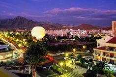Overhead of tourist complex, Playa de las Americas, Tenerife. ~ Tenerife,Canary Islands