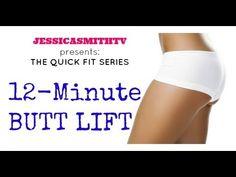 ▶ Brazilian Butt Lift: Full Length 12-Minute Butt Lift Workout (slimming hips, thighs, glutes) - YouTube