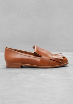 & Other Stories   Fringe Leather Loafers