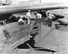 USS Nevada - Pearl Harbor Damage