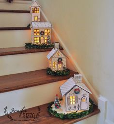 hand-made foam core sharpie DIY Holiday houses Home Decor christmas DIY Holiday House Christmas Village - Jennifer Rizzo Diy Christmas Decorations For Home, Christmas Crafts, Holiday Decor, Christmas Ideas, Putz Houses, Haunted Houses, Christmas Paper, Christmas Home, Christmas Island