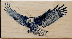 Free Shipping, Eagle Rubber Stamp, Philadelphia Eagles, Wildlife Art, Scrapbook Cards, Vintage Stamp, American Symbol, Birds in Flight by ClassicEndearments on Etsy