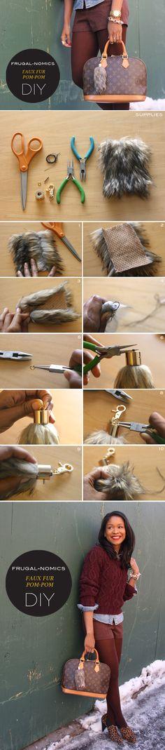 Frugal-nomics DIY : FAUX FUR POM-POM | Frugal-nomics.com