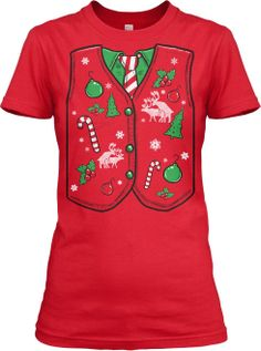 20ade7d7b Crazy Dog Tshirts Womens Ugly Christmas Sweater Vest T-Shirt Cheap Ugly  Christmas Sweater,