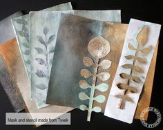 DIY: how to make stencils and masks, tutorial by Michelle Ward