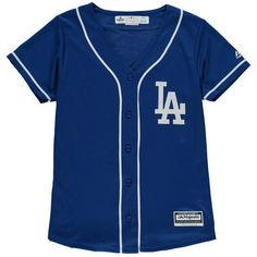 dd097c1ed49 Women s Los Angeles Dodgers Majestic Royal Alternate Cool Base Jersey ( 80)  ❤ liked on