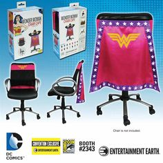 New Batman Beyond And Wonder Woman Chair Capes