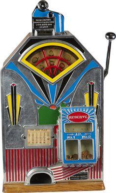 Extremely Rare Jennings Slot Machine -P- - Dec 2013 Route 66, Gambling Machines, Vending Machines, Vintage Slot Machines, Candy Games, Penny Arcade, Slot Machine Cake, Arcade Machine, Gumball Machine