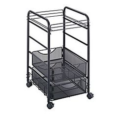 $110 Safco Onyx Mesh Cart 27 H x 15 34 W x 17 D Black by Office Depot & OfficeMax
