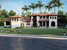 050H-0343: Luxury House Plan with Mediterranean Style Craftsman House Plans, Modern House Plans, Small House Plans, House Floor Plans, Modern Mediterranean Homes, Stucco Exterior, Spanish Style Homes, Spanish Colonial, Walk In Pantry
