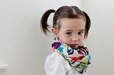 Beautiful Feather Toddler and Child Infinity Scarf