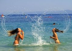 Summer fun at the beach with a friend. Such a GREAT photo op!