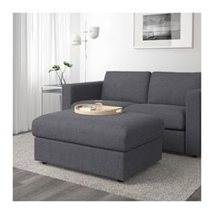 IKEA VIMLE footstool with storage