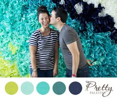 Wedding Color ideas...  Green or Yellow?  Thinking the green or yellow with the aqua and navy