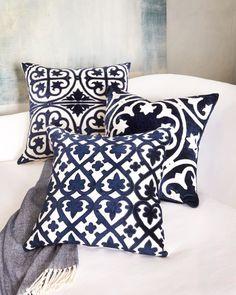 Neiman Marcus navy pillows