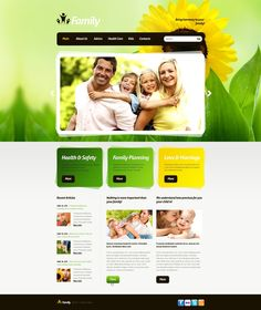 Family Center Website Templates by Elza Joomla Templates, Family Planning, Health And Safety, Website Template, Parenting, Kids, Young Children, Boys, Children