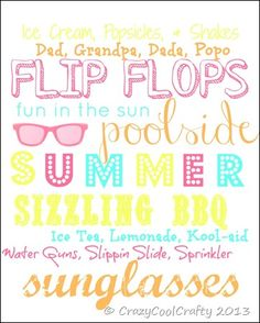 Summer Printable by CrazyCoolCrafty