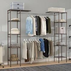 You can buy discount Meehan Expandable Closet System by Rebrilliant Closet Bedroom, Closet Space, Home Decor Bedroom, Spare Room Closet, Entryway Closet, Closet Rod, Closet Storage, Storage Organization, Clothes Storage Ideas Without A Closet