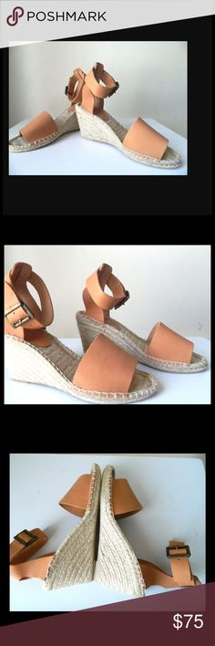 ♦️NEW ♦️Tan Espadrilles by Picon ♦️NEW Calzados Picon Women Leather Espadrilles Wedge Shoe Nude Handmade in Spain. Genuine leather, adjustable buckle closure on ankle. Heel height 3.25 inches and .05 platform. Size 8 $75    Please ask all your questions before you purchase. I'm happy to help   Sorry, no trades or hold.  Please, no lowball offers.  Please use the Offer Button  Bundle for your best prices  Ships next day, if possible  Thank you for visiting my closet  Picon Shoes Espadrilles