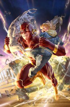 The Flash by Junggeun Yoon - DC Comics. Flash Comics, Arte Dc Comics, Dc Comics Characters, Iconic Characters, Flash Art, The Flash, Online Comic Books, Marvel E Dc, Girls Anime