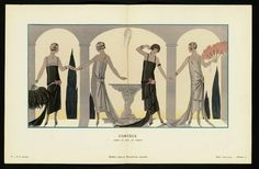"""Cortège - Robes du soir, de Worth,"" plate 10 from Gazette du Bon Ton, No. 2  French, 1924–25"