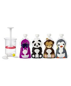 This Reusable Food Pouch Fill 'n' Squeeze Set by Squooshi is perfect! #zulilyfinds