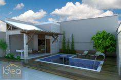 Para quebrar a monotonia e tornar a piscina reta ainda mais interessante uma dica é trabalhar um jardim ao fundo. O verde da vegetação trará aconchego e beleza a sua área de lazer. Para esta piscina distribuímos uma área de bar com hidromassagem e uma cascata para dar mais movimento. #ProjetoDeAutoriaDoEscritórioIDEAArquitetura# (66) 3405 2145 ou (66) 9 9998 6804