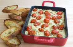 Three Cheese Bruschetta Dip