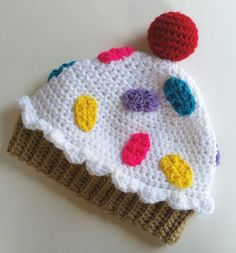 Items similar to Crochet Cupcake Hat with Sprinkles: Cute Cupcake Hat Cupcake Beanie Adorable Hat Unique Crochet Gift Baby Cupcake Hat Pretty Crochet Hat on Etsy Crochet Cupcake Hat, Crochet Kids Hats, Crochet Beanie, Crochet Gifts, Knitted Hats, Baby Cupcake, Crochet Owls, Knitted Dolls, Crochet Animals
