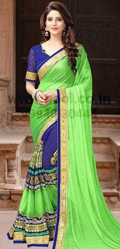 http://www.nool.co.in/product/sarees/shimmer-georgette-surat-vipul-saree-green-swarovski-work-kf1319d5397