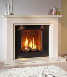 DRU - The home of the finest gas fires and wood stoves Gas Stove Fireplace, Open Fireplace, Fireplace Wall, Living Room With Fireplace, Fireplace Surrounds, Fireplace Mantels, Living Room Decor, Fireplace Ideas, Fireplaces