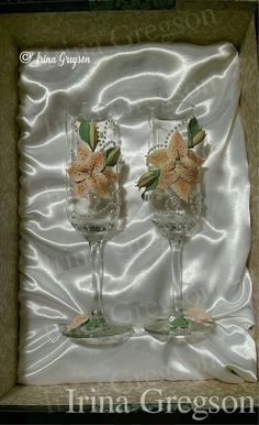 Wedding glasses by IrinaGregson on Etsy