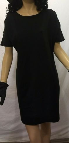 ba66a02890e New York   Company Women s Stretch Black Scoop Neck Casual Dress Size XS