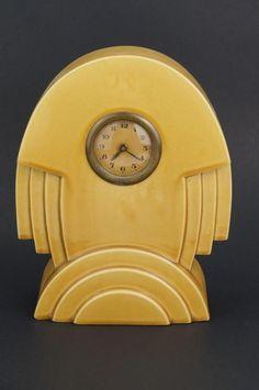 Original ICONIC 1920s ART DECO Mantle CLOCK - ST CLEMENT FRANCE