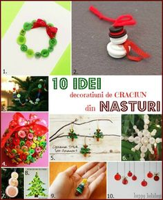 decoratiuni de craciun din nasturi Elf On The Shelf, Projects To Try, Santa, Christmas Ornaments, Holiday Decor, Home Decor, Decoration Home, Room Decor, Christmas Jewelry