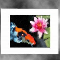 koi art print:Water Color koi