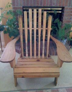 Recycled Wooden Baseball Bat Chair by ourwhimsicalgarden on Etsy, $299.00