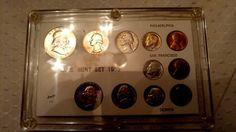 1955 PDS  UNCIRCULATED  MINT SET capital case AMAZING 1955d quarter toned