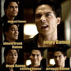 #TVD The Vampire Diaries  Damon, I'm pretty sure I've already pinned this before but oh well..the looks of Damon' we love them all!