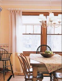 white crown molding with wood trim Oak Trim, Trim Color, Crown Molding, Carpentry, Room Interior, Paint Colors, Home Improvement, Sweet Home, Room Ideas