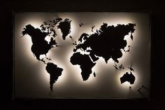#Productividad World Map Wall Decor, World Map Wall Art, Wall Maps, Room Ideas Bedroom, Bedroom Decor, Erde Tattoo, World Map Wallpaper, Art Mural, Interior Design Living Room