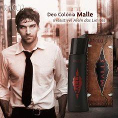 Vá além dos limites e conquiste fãs... Malle é ideal para homens atraentes e de personalidade forte!  #deocolonia #malle #racco #raccopituba #raccosalvador