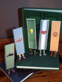 Wizard of Oz Character Bookmarks SET OF 5 - Wicked Witch - Dorothy - Scarecrow - Tin Man - Cowardly Lion