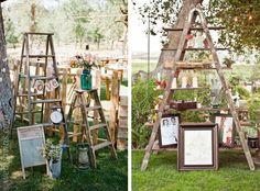 Pon una escalera de madera en tu boda www.webnovias.com/blog