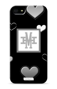 Angela Black Monogram Phone Case, For iPhone 5,5S,5C, Iphone 4,4s and Samsung S4 £13.99