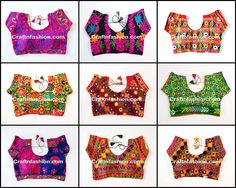 Bohemian Style Blouse -  Kutch Embroidered Blouse- Navratri wear Embroidered Cotton readymade Blouse-